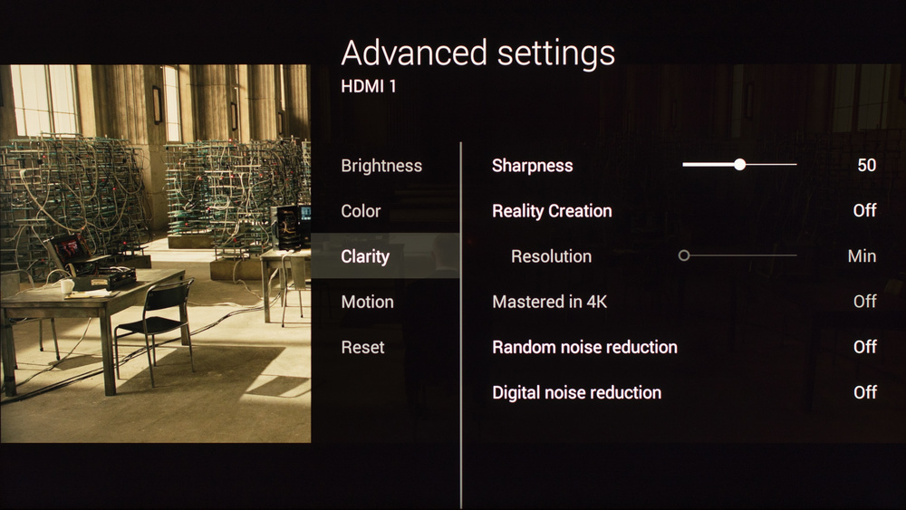 Bravia X85C Picture Settings