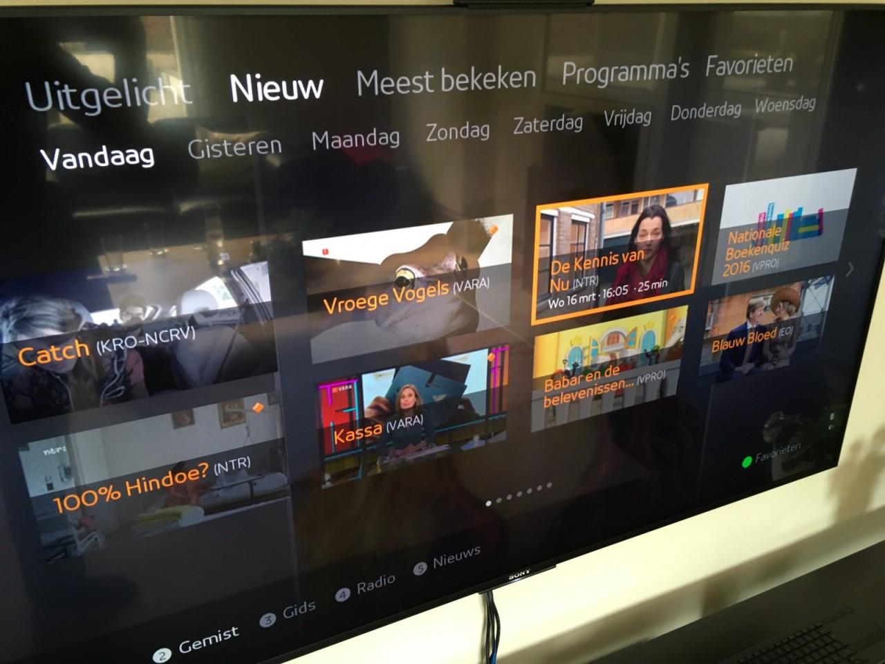 HbbTV Ziggo / Sony