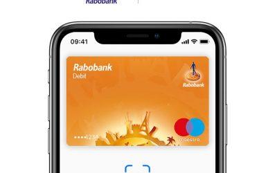 Apple Pay vanaf nu ook voor Rabobank klanten