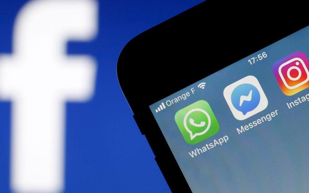 Facebook, Instagram, Whatsapp storing