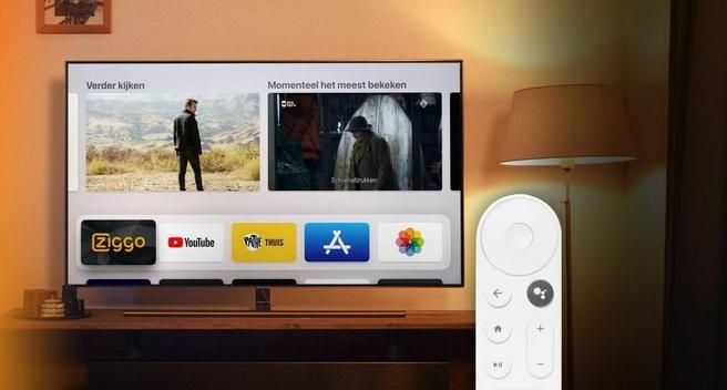 Google TV met Ziggo GO voor 'niet' slimme TV's
